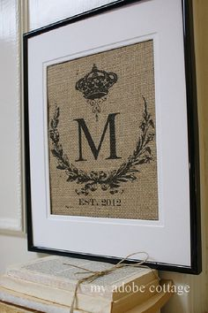 ORIGINAL Shabby Chic Wedding Burlap Print...Great for wedding gift, engagement gift, anniversary gift