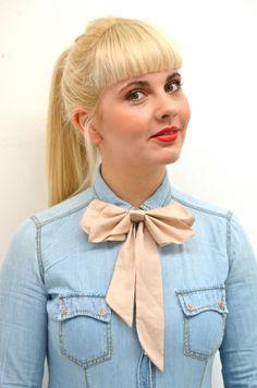 Silk Bow Tie bow tie womens bow tie light Rosé von PollyMcGeary, €45.00