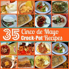 35 Cinco de Mayo Crock-Pot Recipes Lots of lunch possibilities. Start in the am before heading to the beach or pool. Crock Pot Freezer, Crock Pot Slow Cooker, Crock Pot Cooking, Slow Cooker Recipes, Crockpot Recipes, Cooking Recipes, Freezer Meals, Healthy Recipes, Mexican Food Recipes