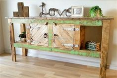 The idea of recycled wood pallet entryway table shown here is looking different from the common style because a little bit of light green color is in it. It is a great idea for creating entryway table at home because it fulfills multiple demands as the hallway tree shown above.