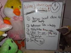 Cute Kid Note Of The Day: Ashley's FUN Hurricane Rules [PHOTO]