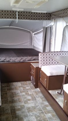 Whew! It's done!! This is our one week pop-up camper remodel! Lots of before and after photos. #pop-upcamperremodel