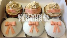 Peach Mothers Day Cupcakes