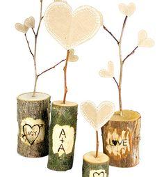 DIY Rustic Woodburned Valentines | Whimseybox