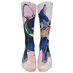French Bulldog Winter Compression Socks For Men & Women – BEST For Running, Nurses, Shin Splints, Flight Travel, Skiing & Maternity Pregnancy – Boost Athletic Stamina & Recovery