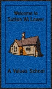 Sutton VA school logo mat. Personalised door mat.