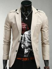 Fashion Champagne Cotton Men's Casual Suits - #meanswear #