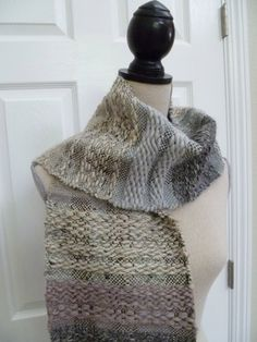 Marbled Creams and Grey's Handwoven Scarf, via Etsy.- TAKEN/ SOLD