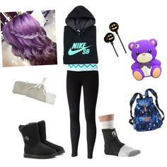 A fashion look from March 2015 featuring NIKE hoodies, SO and UGG Australia boots. Browse and shop related looks.