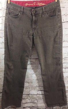 "CJ by Cookie Johnson Brown Wash Grace Jeans Size 28 Boot Cut Stretch Denim 31"" #CJbyCookieJohnson #BootCut"