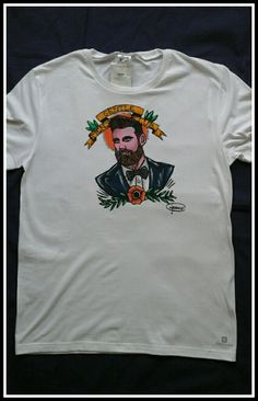 T-shirt dipinta a mano GENTLE MEN'S CLUB   https://www.etsy.com/it/shop/KrisArtPaintings