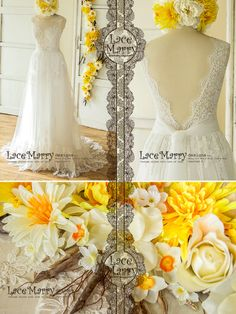 Buy Now Trendy Lace Wedding Dress in Bohemian Style from Soft Tulle and French Lacy Applique Rustic Wedding Dresses, Wedding Dresses Plus Size, Modest Wedding Dresses, Colored Wedding Dresses, Wedding Dress Styles, Wedding Gowns, Lace Wedding, Sparkle Wedding, Backless Wedding