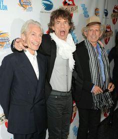 Charlie Watts ♡ Mick Jagger & Keith Richards ♡