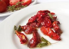 Recept na sušená rajčata v oleji krok za krokem Bruschetta, Smoothie, Shrimp, Cabbage, Food And Drink, Meat, Chicken, Vegetables, Fruit
