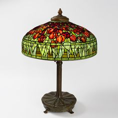 """Tulip"" Tiffany Lamp. One of the America's most celebrated designers, Louis Comfort Tiffany was an established tastemaker in the late 19th century, catering to wealthy patrons."