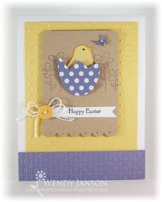 Wendy Janson's CASE of Nichole Heady - such a cute Easter card with the bird punch!