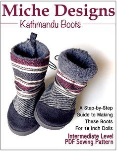 "Miche Designs Kathmandu 18"" doll shoes from Pixie Faire."
