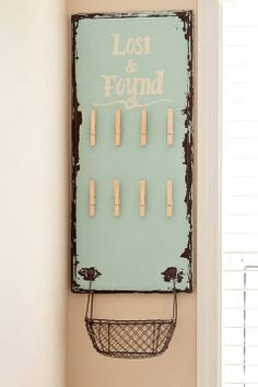 What a cute idea for the laundry room