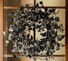 DIY Black Leaf Wreath