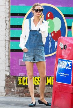 Olivia Palermo can do no wrong.  She made overall shorts seem chic, stylish, and feminine
