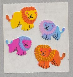 Sandylion stickers are in high demand by collectors. They are also perfect for embellishing greeting cards, scrapbook pages, gift bags, crafts and mo Craft Stickers, Cute Stickers, Sorting Colors, Christmas Gift List, Rainbow Aesthetic, Journaling, Sticker Design, Scrapbook Pages, Amazing Art