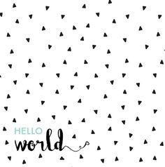 Hello World Swaddle Blanket Black and White by HelloDearestBaby