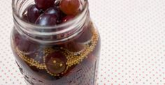 pickled grapes with cinnamon & black pepper