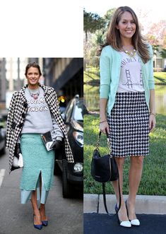 J's Everyday Fashion provides outfit ideas, budget fashion, shopping on a budget, personal style inspiration, and tips on what to wear. Outfits 2014, Fashion Outfits, Work Outfits, Spring Outfits, Winter Outfits, Short Girl Fashion, Js Everyday Fashion, Business Professional Outfits, Houndstooth Skirt