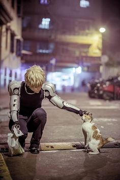 "cosplayskyuk: ""  One Punch Man Genos cosplay """