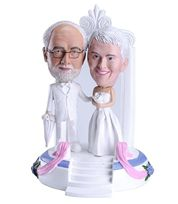 Looking for wedding gift? Unique and high quality collectible gifts available at 1minime. Bobble head cake toppers, bobble head, personalized gift, personalized wedding gift and many more!