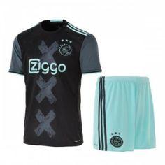 Ajax Away Navy 16-17 Cheap Replica Jersey Kit(Shirt+Shorts) [F701]