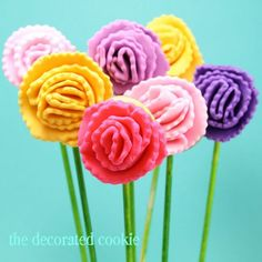 carnation flower cookies