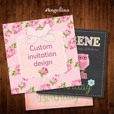 Custom invitation design ADD ON by AngelinaWorks on Etsy