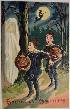 Vintage Halloween Postcard | Artist E. C. Banks | Dave | Flickr