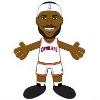 "Cleveland Cavaliers® LeBron James Home Uniform 10"" Plush Figure"