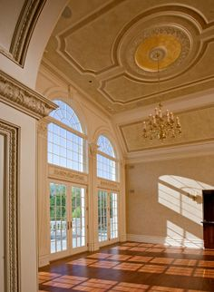 Ceilings are just as important as walls when it comes to architectural detail. The ceiling is the only unencumbered plane for your artistic expression — the only planar surface that is entirely visible from any place in your room.