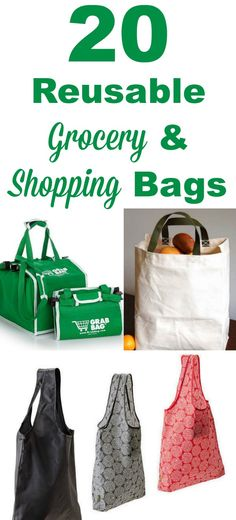 20 types of varieties of reusable grocery and shopping bags, for your cart, quick trips into the store, for hot and cold groceries, and more #ad