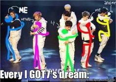 Every fan's dream haha Don't lie, when you saw the choreography you thought the same thing! #got7