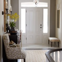First Impressions | Entry | Hall table chair and door