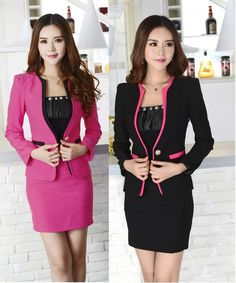 dd05b72b6b3 Aliexpress.com   Buy New Elegant Black Plus Size 4XL 2015 Fashion Spring  Autumn Women s Skirt Suits Uniform Blazer Sets Professional Work Wear Suits  from ...