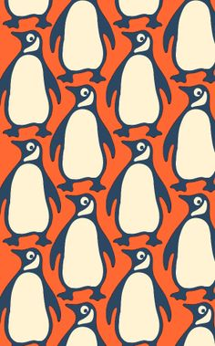 Penguins pattern (this version of the Penguin Books logo is the one designed in 1946 by Jan Tschichold)