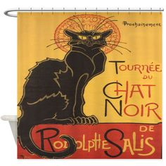 You'll love the Chat Noir Shower Curtain at Wayfair - Great Deals on all Bed & Bath  products with Free Shipping on most stuff, even the big stuff.