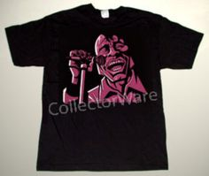 JAMES BROWN cartoon 3 CUSTOM ART UNIQUE T-SHIRT   Each T-shirt is individually hand-painted, a true and unique work of art indeed!  To order this, or design your own custom T-shirt, please contact us at info@collectorware.com, or visit  http://www.collectorware.com/tees-james_brown.htm