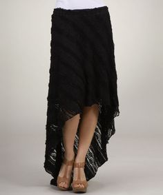 Take+a+look+at+the+FATE+Black+Lace+Hi-Low+Skirt+on+#zulily+today!