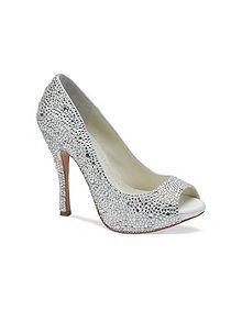 3adf5822eddec House Of Fraser Benjamin Adams Charley Crystal Peep Toe shoes £299.  Bellissima Bridal