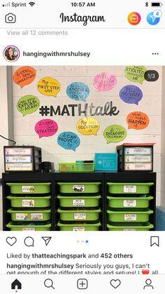 Math Classroom Decorations, Classroom Wall Decor, Classroom Board, Future Classroom, Classroom Ideas, Math Bulletin Boards, Math Wall, Fifth Grade Math, Fourth Grade