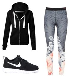 Sporty outfit by noellie-hiltyj on Polyvore featuring polyvore, fashion, style, Ted Baker, NIKE and clothing