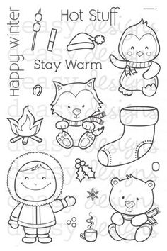 Happy Winter clear stamp set
