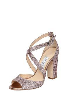 jimmy choo - women - sandals - 100mm carrie glittered sandals
