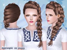 Braided side hairstyle 190 by Skysims for Sims 3 - Sims Hairs - http://simshairs.com/braided-side-hairstyle-190-by-skysims/